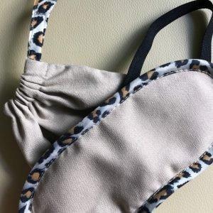 Slaapmasker, Katoen-linnen, Kleur: beige-luipaard