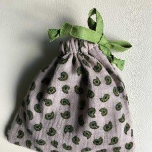 Slaapmasker, Mousseline, Kleur: Beige, paisley, groen