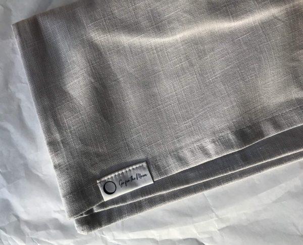linnen kussensloop grijs lichaamskussen