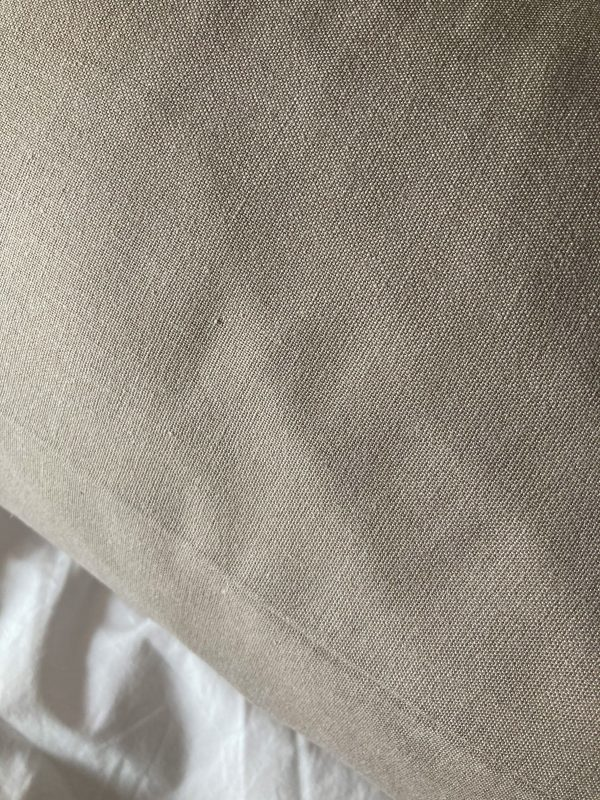 beige katoen-linnen kussensloop