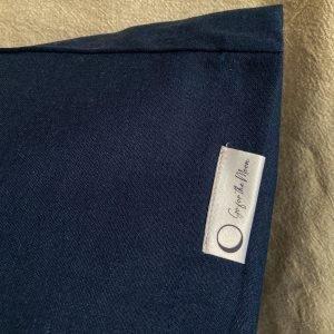 Kussensloop lichaamskussen, katoen-linnen, nachtblauw